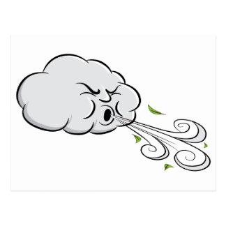 Wolken-durchbrennenwind-windiger Tag Postkarte