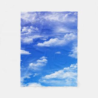 Wolken Fleecedecke