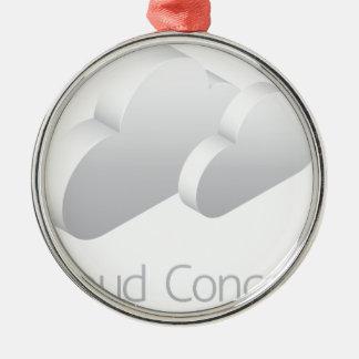Wolken-Wetter-Ikonen-Konzept Silbernes Ornament