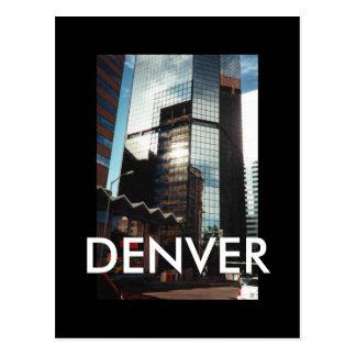 Wolkenkratzer-Gewohnheits-Postkarte Denvers im Postkarte