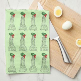 Wolkenkratzer-Kranz-Weihnachtstuch New York NYC Küchentuch