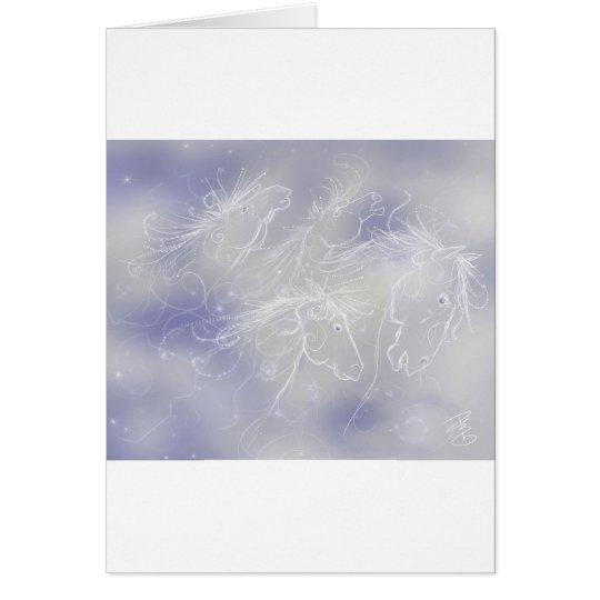 Wolkenpferde Grußkarte