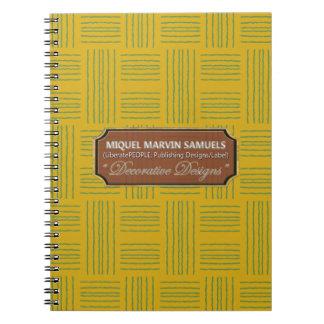 Wollen kopieren dekoratives Gelbgrün-Notizbuch Spiral Notizblock