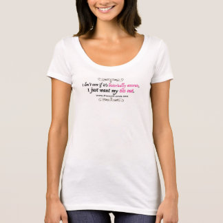 Wollen Sie einfach mein T*ts heraus - weißes Shirt
