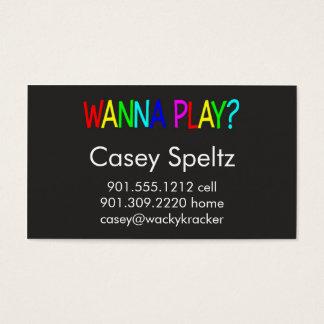 Wollen Sie, um Geschäfts-Karten zu spielen Visitenkarte