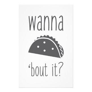 Wollen Sie zum Taco-Kampf ihn Briefpapier
