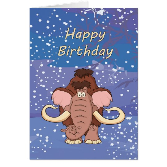 Wolliges Mammut-Geburtstags-Karte Karte