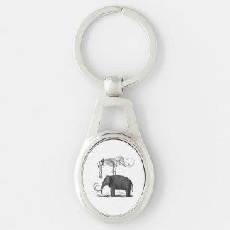 Wolliges Mammut-prähistorischer Elefant und Schlüsselanhänger