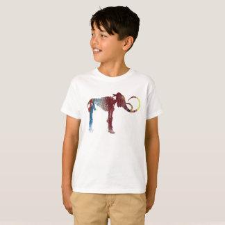 Wolliges Mammut-Skelett-Kunst T-Shirt