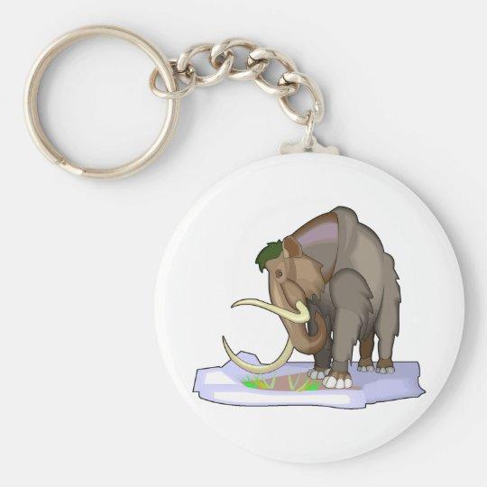 Wolliges Mammut Standard Runder Schlüsselanhänger