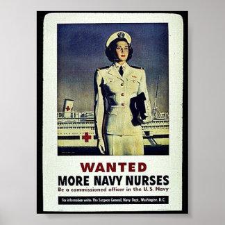 Wollte mehr Marine-Krankenschwestern Poster