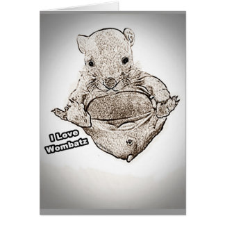 Wombat Joey Gruß-Karten Karte