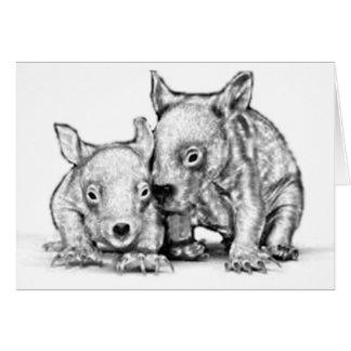 Wombat Joeys Gruß-Karte Karte
