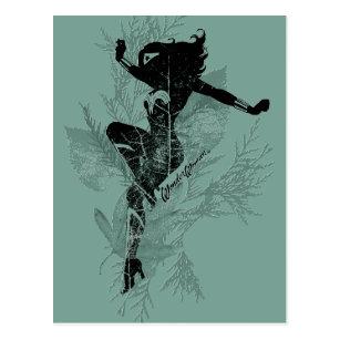 Wonder Woman Landing Foliage Graphic Postkarte