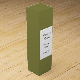 Woodbine-grüner leistungsfähiger Normallack Weinbox