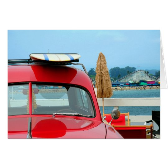 Woodie am Strand Karte
