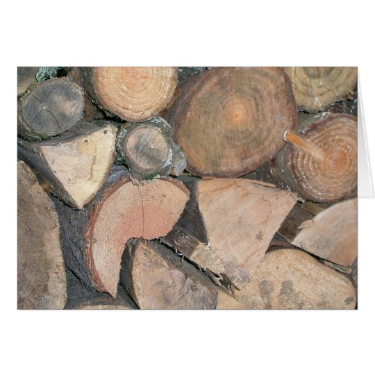 Woodpile Grußkarte