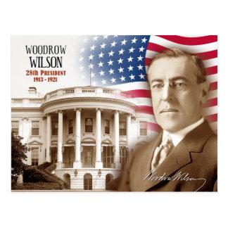 Woodrow Wilson - 28. Präsident der US Postkarte