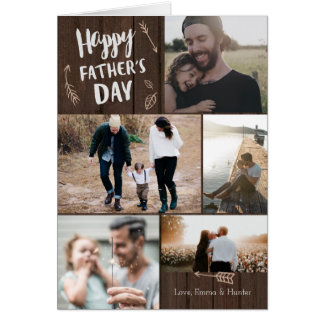 Woodsy der Vatertags-Karte 5 Foto- Grußkarte