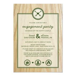 Woodsy Hochzeit u. Glamping Verlobungs-Party 12,7 X 17,8 Cm Einladungskarte