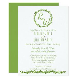 Woodsy Rebe-12x18 Grün der Eleganz-| Wedding 12,7 X 17,8 Cm Einladungskarte