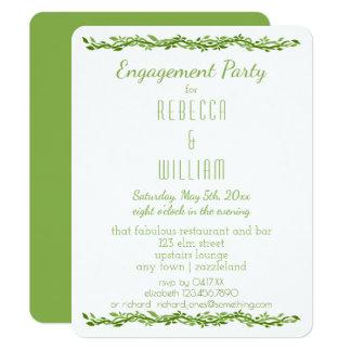 Woodsy Rebe-Verlobungs-Party der Eleganz-| Wedding 10,8 X 14 Cm Einladungskarte
