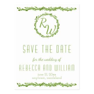Woodsy Wedding Rebe der Eleganz-| Save the Date Postkarte