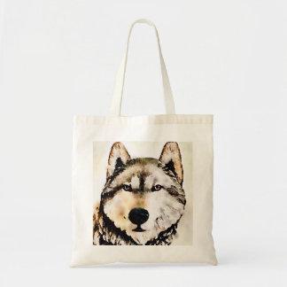 Woodsy Wolf-Kopf Budget Stoffbeutel