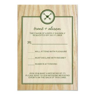 Woody Hochzeit u. Glamping UAWG Karten 8,9 X 12,7 Cm Einladungskarte