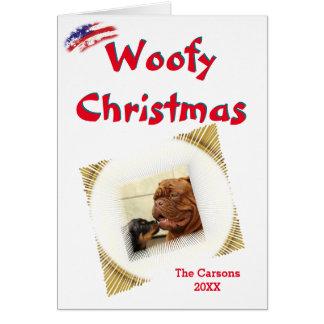 Woofy Weihnachten-USA-Vignetten-Foto-Schablone Karte