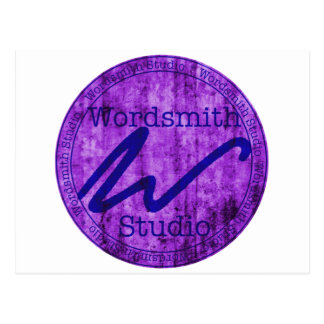 Wordsmith-Studio Purlple/Marine Postkarte