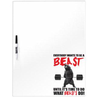 Workout-Fitness-Turnhallen-Motivation - Tier Memoboard