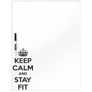 Workout-Motivation - behalten Sie Ruhe und bleiben Memo Boards