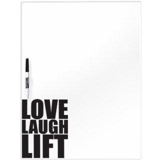 Workout-Motivation - Liebe, Lachen, Aufzug Trockenlöschtafel