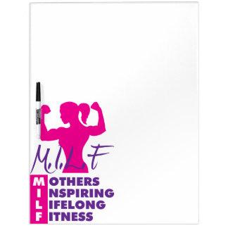 Workout-weibliche Fitness-Motivation - MILF Trockenlöschtafel