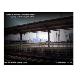 World Trade Center-Türme vor 9/11/2001 Postkarte