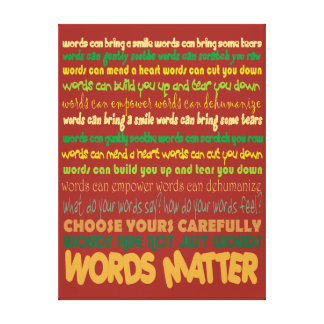 Wort-Angelegenheit eingewickelte Leinwand Leinwand Drucke