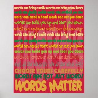 Wort-Angelegenheits-(rotes) Plakat