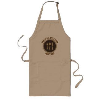 Wort-bestste Koch-Restaurant-Platte Brown u. Beige Lange Schürze