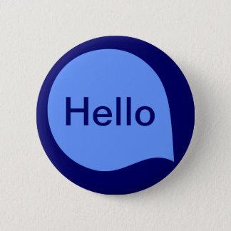 Wort-Blase - Baby-Blau der tiefen Marine Runder Button 5,1 Cm