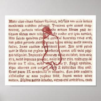 Wort-Buntglas 1 Poster
