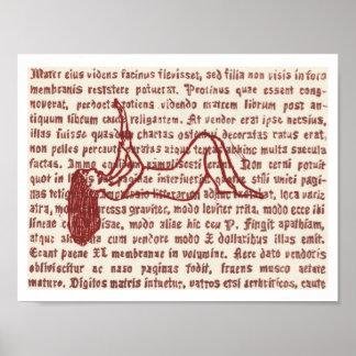 Wort-Buntglas 3 Poster