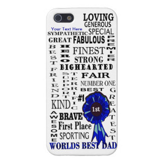 Wort-Collagen-Vatertags-Fall ausgebuffter iPhone 5 iPhone 5 Cover