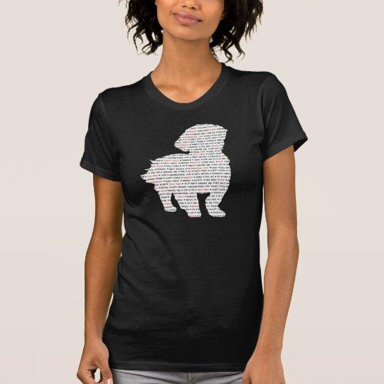 Wort-Kunst Shih Tzu T-Shirt
