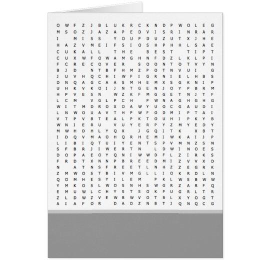 Wort-Suchpuzzlespiel verursacht Karte