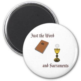 Wort und Sakramente Runder Magnet 5,1 Cm