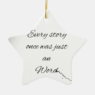 Wort-Zitat Keramik Stern-Ornament