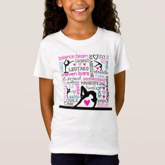 Wörter der Gymnastik Tri Farbeterminologie T-Shirt