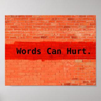 """""""Wörter können verletzen """" Poster"""