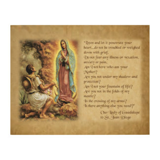 Wörter unserer Dame von Guadalupe zu St. Juan Holzwanddeko